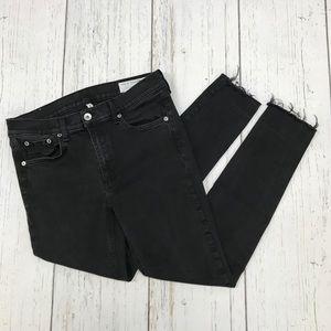Rag & Bone Black Ankle Skinny Jeans